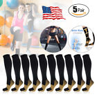 Внешний вид - (5 Pairs) Copper Compression Socks 20-30mmHg Graduated Support Mens Womens S-XXL
