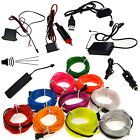 LED Glow Neon EL Wire Light String Strip Rope Tube Car Party Decor  Controller