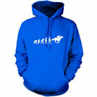 Evolution of Man Horse Riding Unisex Hoodie - Hooded top / Gift - 9 Colours