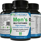 Men's Multivitamin General Health, Fast-Acting! Non-GMO - 60 Pills Per Bottle $14.9 USD on eBay