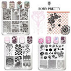 BORN PRETTY Nail Art Stamping Plates Floral Lace Series Image Printing Templates