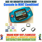 Kyпить Nintendo Game Boy Advance GBA Blue System AGS 101 Backlit Mod RECHARGEABLE! на еВаy.соm