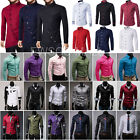 Stylish Men's Shirts Casual Formal Slim Fit Long Sleeve Dres