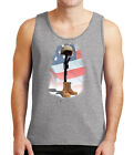 Some Gave All Mens Tank Top US Flag Combat boot arm helmet Tanks for Men - 2027C