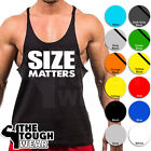 SIZE MATTERS C10 Gym Singlets Men's Tank Top Bodybuilding Workout MMA Fitness image
