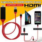 8 Pin Screen to HDMI AV TV HD 1080P Adapter Cable for iPhone X 6 7 8 Plus NEW!
