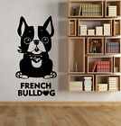 Vinyl Wall Decal Pet Puppy Dog French Bulldog Home Animal Stickers (2827ig)