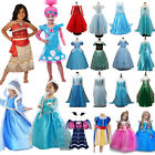 Princess Elsa Frozen Anna Dress Fancy Costume Girls Party Cosplay Halloween US image