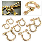 Внешний вид - Solid Brass D Bow Shackle Screw Pin Joint Connect Key Chain Hook Leather Craft