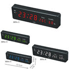 Digital Large LED Display Wall Desk Clock With Calendar Temperature Humidity