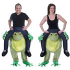 Adults Piggy Back Ride On Frog Fancy Dress Ride On Novelty Party Animal Costume
