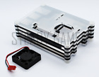 Layered Transparent Case Raspberry Pi 3B+ / 3B w/ Cooling Fan + HDMI Cable + HS