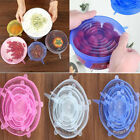 6Pcs/Set Universal Food Grade Silicone Insta Lids Suction Lid-bowl Cover Stretch