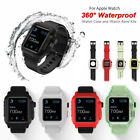 40/44/42mm Silicone Waterproof iWatch Band Strap Case Cover fr Apple Watch 5 4 3 image