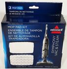 Bissell Symphony Vac & Steam Mop Pad 2pk Replacement Kit Series 1132  Model 1252
