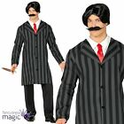 Adults Mens Gothic Gentleman Gomez Addams Halloween Fancy Dress Costume Outfit