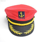A815 Deluxe Satin Captain Hat Naval Officer Cap For Clown Fancy Dress Cosplay