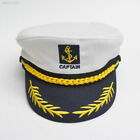 9D36 Deluxe Funny Satin Captain Hat Naval Officer Cap For Clown Fancy Dress