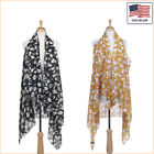 New Women Fashion Floral Printed Chiffon Open Front Sleeveless Vest - 30020