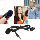 A591 Clip-on Lapel Mini Lavalier Microphone Mic For iPhone Mobile Phone Black