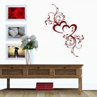 Heart Love Flowers Living Room Bedroom Wall Art Vinyl Decal Gift Sticker V93