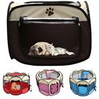Small Pet Dog Cat Tent Playpen Exercise Play Pen Soft Crate 8 Sided Portable USA