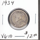 1934 Canada - 25 Cents Silver Coin - VG-10 - George V - AG81