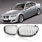Silver Front Sport Kidney Grille Grill ABS For BMW 5-Series E60 E61 M5 03-09 US
