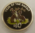 2011 Cook Islands 10 dollars Year Of The Rabbit Hase Silver Coin