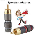 0613 RCA Connector Male Plug Gold Plated Professional Speaker Audio Adapter 2 Co