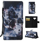 For Samsung Galaxy Note 9 Cute Pattern PU Leather Wallet Strap Case Folio Cover