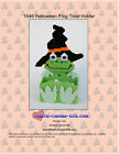 Witch Frog Treat Holder-Halloween- Plastic Canvas Pattern or Kit
