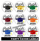GRADUATION PARTY FAVORS TAGS LABELS STICKERS FOR YOUR PARTY FAVORS