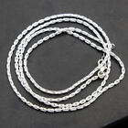 Handmade Jewelry Solid 925 Sterling Silver twist curb Link Chain Necklace