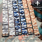 Camouflage Wrap-Around 4-Ring Nylon Watch Straps 16 18 20 22 24mm Steel & PVD