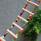 Colorful Wooden Swing Bridge Ladder Pet Birds Toys Cage Accessories for Parakeet