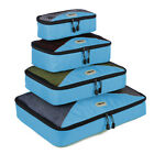 Waterproof Travel Packing Organizer Cubes Clothes Storage Bags Luggage Set Pouch