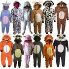 Girls Boys Childrens Animal Fleece All In One Kids Costume Outfit Age 2-12 Years