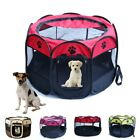 US Small Pet Dog Cat Tent Playpen Exercise Play Pen Soft Fence Cage Kennel Crate
