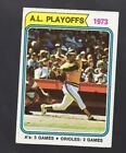 1974 TOPPS AL PLAYOFFS 1973 A'S 3 GAMES ORIOLES 2 GAMES #470 (ONLY ONE CARD)