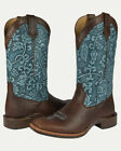 Noble N66025-130 Women Chocolate  All-Around Square Toe Boot FAST FREE USA SHIP