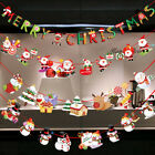 Christmas DIY Tree Hanging Flags Banner Ornament Xmas Gift H