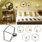 Wall Mounted 3D Geometric Tea Light Candle Holder Metal Candlestick Home Decor