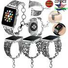 40/44mm 38/42mm iWatch Band Vintage Chain Strap For Apple Watch Series 4 3 Women image