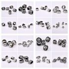 Vintage Punk Jewelry DIY Findings 5/10Pcs Big Hole Stainless Steel Metal Beads