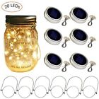 Solar Mason Jar Lid Lights, 6 Pack 20 Led String Fairy Star Firefly Jar Lids Lig