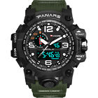 PANARS Mens Sports Military Analog Digital Alarm Stopwatch Dual time Wrist Watch image