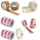 PACKING STRONG TAPE : FRAGILE CLEAR BROWN 50mm X 66M PARCEL TAPE