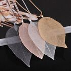 Real Dipped Skeleton Leaf Pendant Filigree 4 Colours Leafs Jewellery Uk Seller