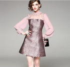 Womens Designs uniquely Occident sexy enchanting splicing collar makings dress
